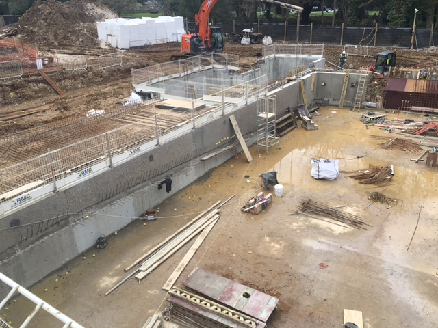 Rebar Detailing School : Construction progressing well at freemen s school swimming