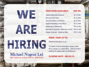 Employment opportunities with Michael Nugent Ltd
